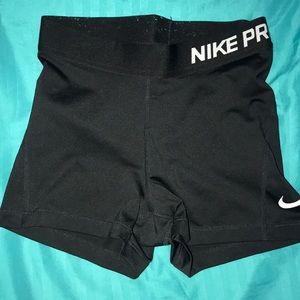 Nike pro black x-small shorts